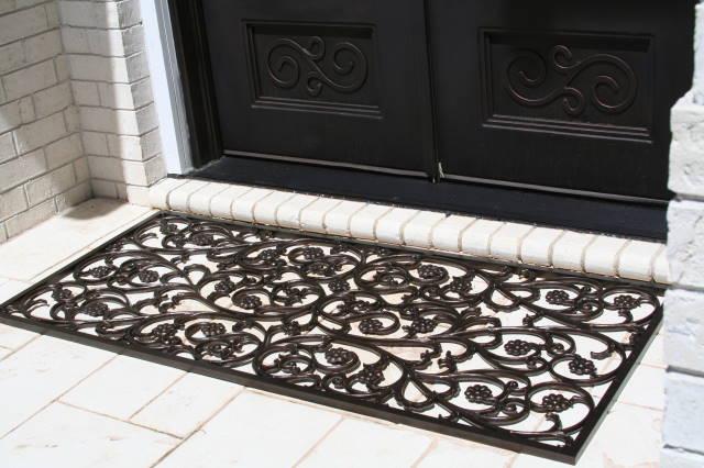 Custom Bellflower Door Mat