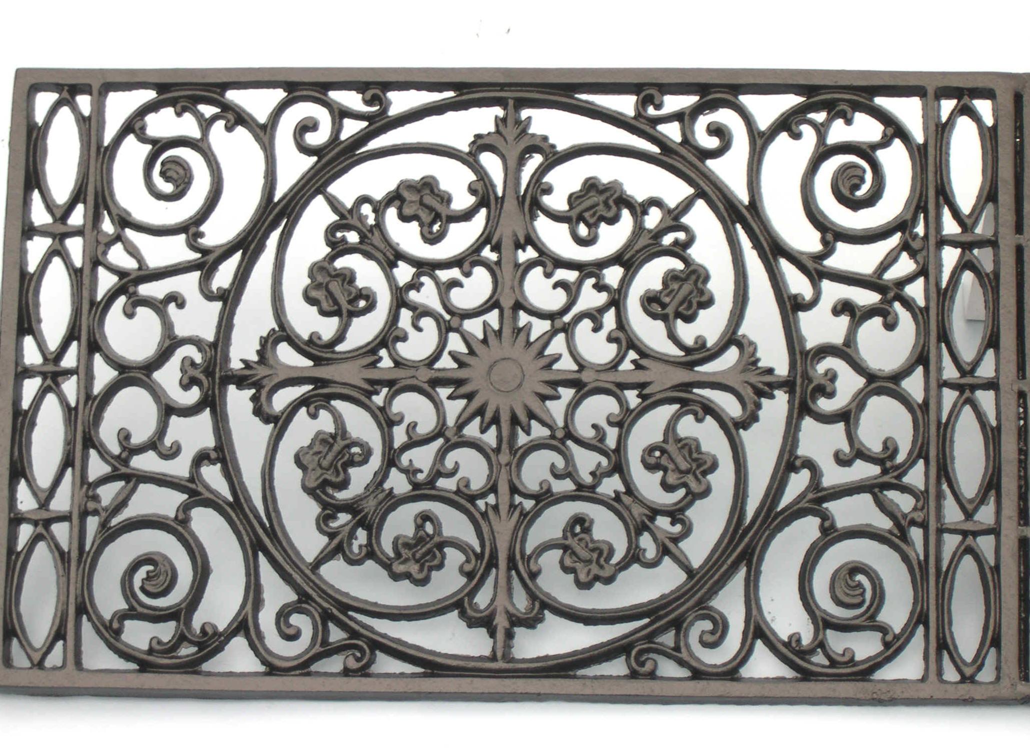 Cast iron front door