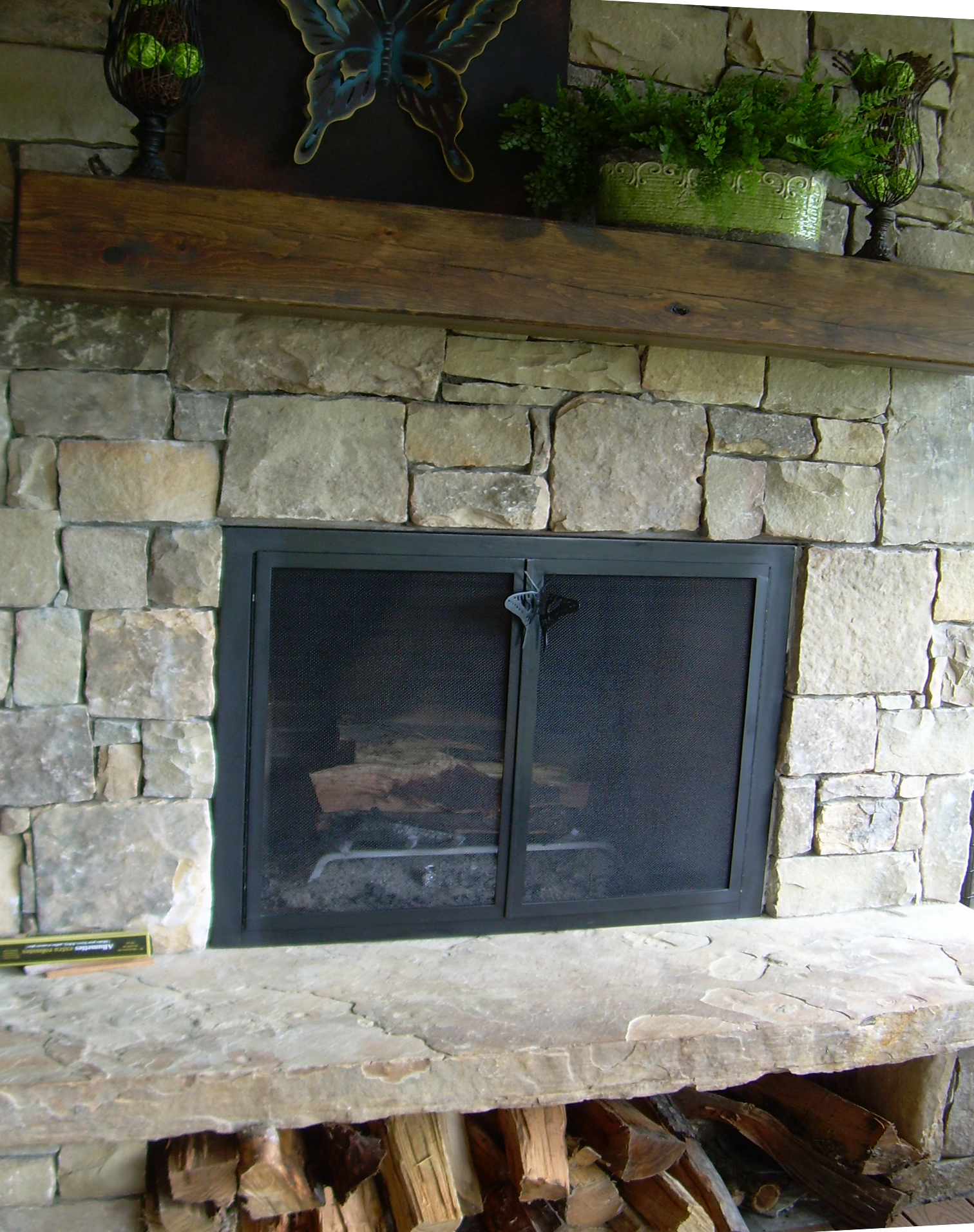 - Kokopelli Fireplace Screen