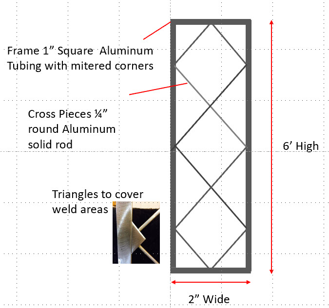 2 x 6 Diamond Design Wall Trellis